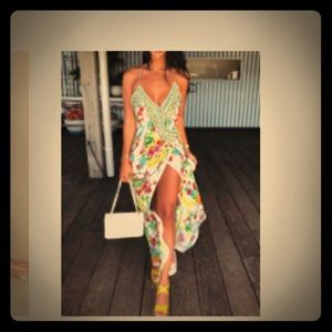 Floral dress, with slit. XL new with tags